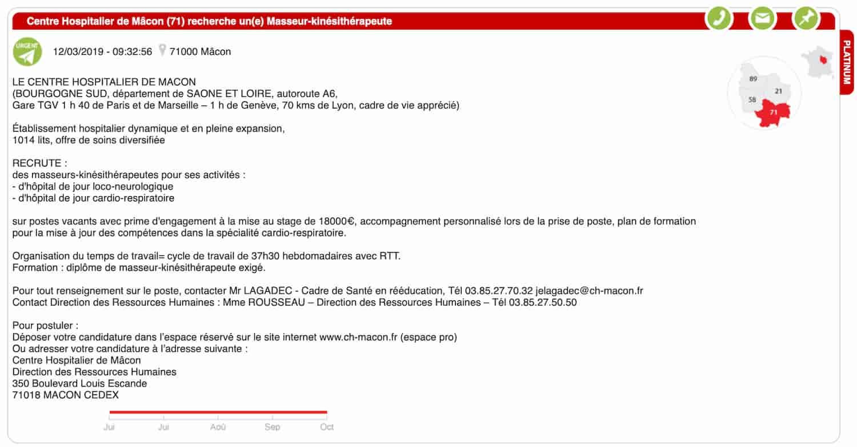 Oferta de empleo Francia