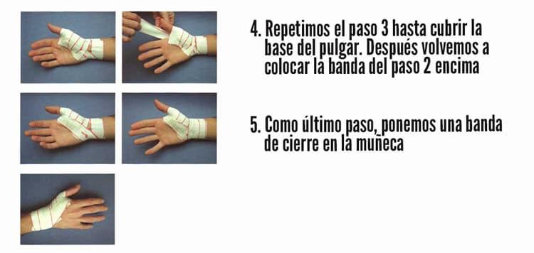 vendaje dedo pulgar baloncesto
