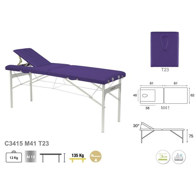 Camilla aluminio ultraligera