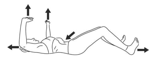 hipopresivos tumbada