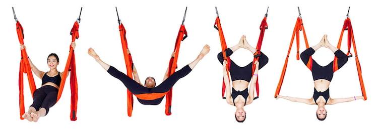Pose del diamante yoga aereo