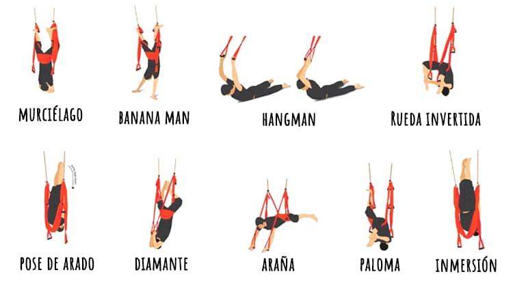 posturas inversión pilates y yoga aereo